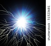 electric flash of lightning on... | Shutterstock . vector #51523681
