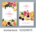 vector fruit and berry banners. ... | Shutterstock .eps vector #515239075