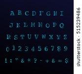 vector alphabet  numbers  signs ... | Shutterstock .eps vector #515239486