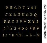 vector alphabet  numbers  signs ... | Shutterstock .eps vector #515239492