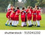 kids soccer football team in...   Shutterstock . vector #515241232