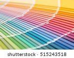 colour swatches book. rainbow... | Shutterstock . vector #515243518