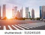 zebra crossing in shanghai... | Shutterstock . vector #515245105