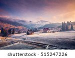 colorful winter landscape in... | Shutterstock . vector #515247226