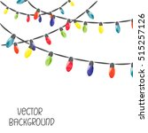 christmas lights isolated on... | Shutterstock .eps vector #515257126