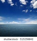 blue sea water surface on sky | Shutterstock . vector #515258842