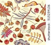 autumn seamless pattern wild...   Shutterstock .eps vector #515259136