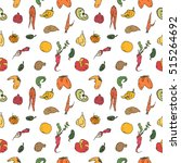 hand drawn vector pattern with  ... | Shutterstock .eps vector #515264692