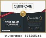 certificate template with... | Shutterstock .eps vector #515265166
