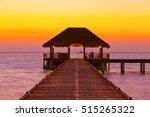 Water Cafe At Sunset   Maldive...
