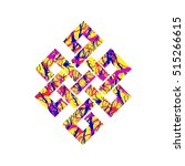 eternity knot buddhist symbol... | Shutterstock .eps vector #515266615