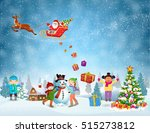 happy new year and merry... | Shutterstock .eps vector #515273812