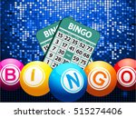 Bingo Balls Jumping Out From A...