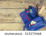 things from open lady purse.... | Shutterstock . vector #515275468