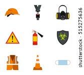 repairs icons set. flat... | Shutterstock .eps vector #515275636
