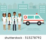 group of african doctors and... | Shutterstock .eps vector #515278792