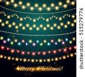 shining garlands. christmas...   Shutterstock .eps vector #515279776