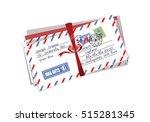 letter envelope to santa finland | Shutterstock .eps vector #515281345