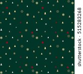 green christmas pattern for... | Shutterstock .eps vector #515283268