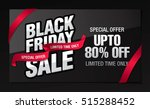 black friday sale banner | Shutterstock .eps vector #515288452