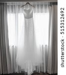 beautiful white wedding gown... | Shutterstock . vector #515312692
