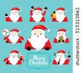 santa character with different... | Shutterstock .eps vector #515313862