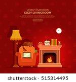 colorful vector cozy warm ...   Shutterstock .eps vector #515314495