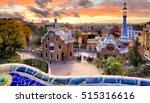 barcelona at sunset  nobody. | Shutterstock . vector #515316616