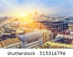 aerial view on budapest at... | Shutterstock . vector #515316796