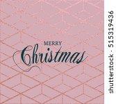 merry christmas. metallic... | Shutterstock .eps vector #515319436