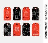vector set of christmas gift... | Shutterstock .eps vector #515320612