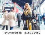 beautiful woman portrait in... | Shutterstock . vector #515321452