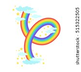 shaped rainbow icon | Shutterstock .eps vector #515322505