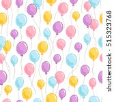 colorful party balloons... | Shutterstock .eps vector #515323768
