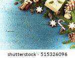 christmas setting with seasonal ... | Shutterstock . vector #515326096