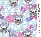 bulldog pattern   vector...   Shutterstock .eps vector #515326375