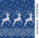 norwegian sweater deer.... | Shutterstock .eps vector #515329486