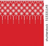 christmas sweater design.... | Shutterstock .eps vector #515331145