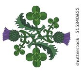 Thistle And Clover. The Symbol...