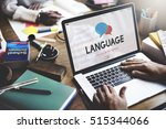 online language learning... | Shutterstock . vector #515344066