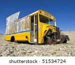 An Abandoned School Bus Sits In ...