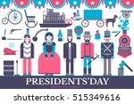 president abraham lincoln day... | Shutterstock .eps vector #515349616