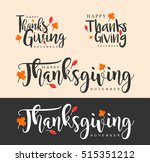 hand drawn thanksgiving...   Shutterstock .eps vector #515351212