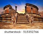 landmarks of sri lanka .ancient ... | Shutterstock . vector #515352766