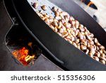 organic brown chestnuts... | Shutterstock . vector #515356306