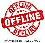 offline stamp.  red round... | Shutterstock .eps vector #515367982