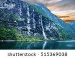 geiranger fjord  norway ... | Shutterstock . vector #515369038