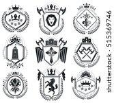 luxury heraldic vectors emblem... | Shutterstock .eps vector #515369746
