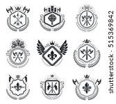 heraldic coat of arms... | Shutterstock .eps vector #515369842