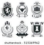 old style heraldry  heraldic... | Shutterstock .eps vector #515369962
